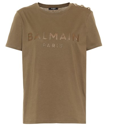 Balmain - Logo cotton T-shirt | Mytheresa