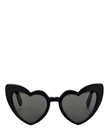 Saint Laurent Loulou Heart Sunglasses | INTERMIX®