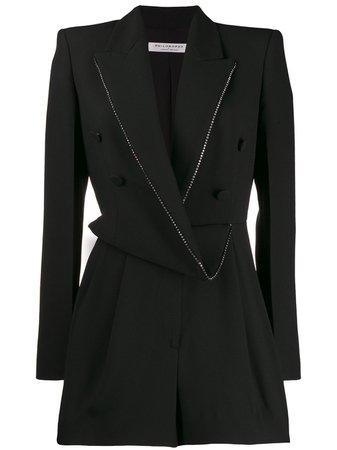 Black Philosophy Di Lorenzo Serafini draped blazer playsuit A04025756 - Farfetch