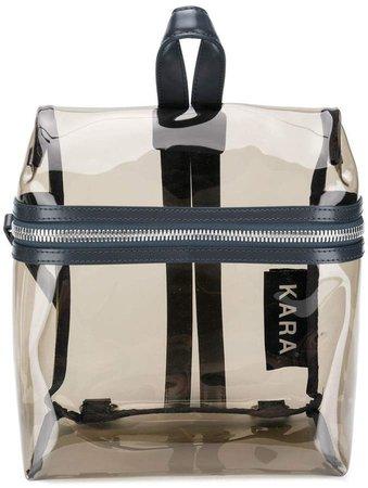 logo zipped backpack