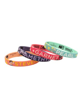 Steven Universe Characters Rubber Bracelet Set   Hot Topic