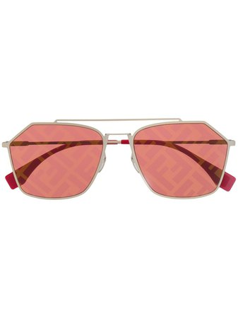 Fendi Eyewear Monogram Lense Sunglasses