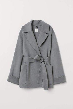 Cashmere-blend Coat - Gray