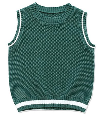 green sweater vest 👍