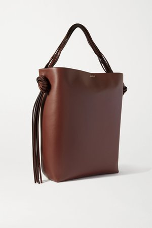 Brown Saturn oversized tasseled leather and canvas tote   Neous   NET-A-PORTER