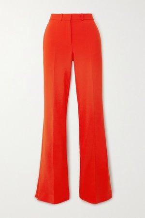 Red Crepe flared pants   Victoria, Victoria Beckham   NET-A-PORTER