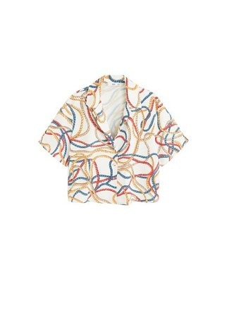 MANGO Scarf print shirt