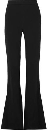 Stretch-cady Flared Pants - Black