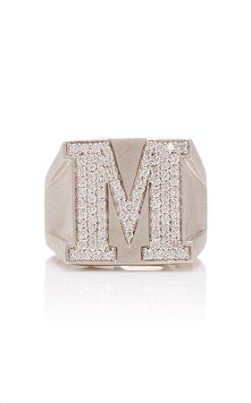 Sterling Silver Diamond Ring by LYNN BAN | Moda Operandi