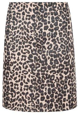 Multi Colour Animal Print Scuba Mini Skirt