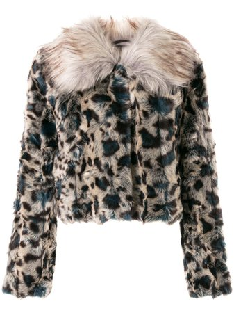 Unreal Fur Leopard faux-fur Jacket - Farfetch