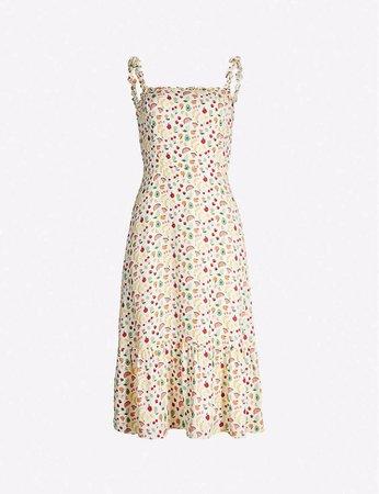 REFORMATION - Granada fruit-print crepe midi dress