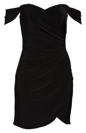 La Femme Off the Shoulder Ruched Soft Jersey Party Dress | Nordstrom