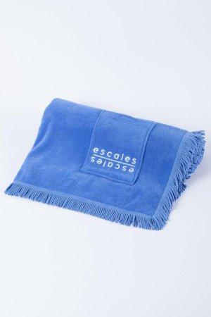 Blue Beach Towel - Beach Accessories | ESCALES