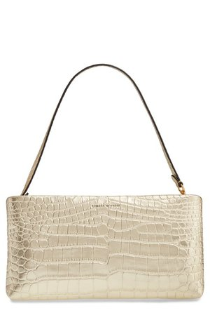 Rebecca Minkoff | Croc Embossed Leather Clutch | Nordstrom Rack