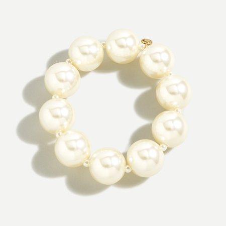 J.Crew: Oversized Stretch Pearl Bracelet For Women