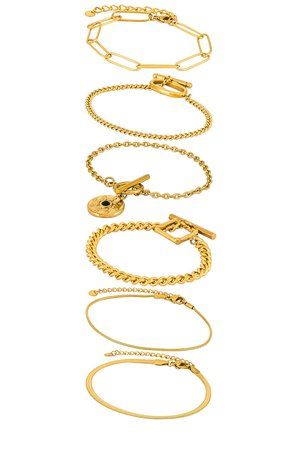 Amber Sceats Layered Bracelet in Gold | REVOLVE
