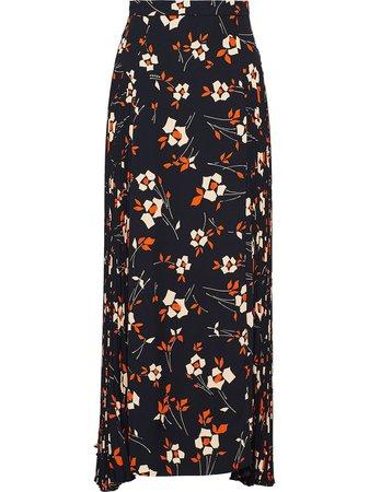 Shop Prada floral print asymmetric skirt with Express Delivery - FARFETCH
