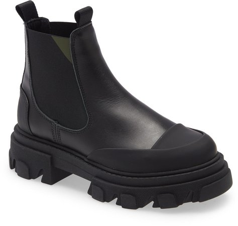 Lug Sole Platform Chelsea Boot