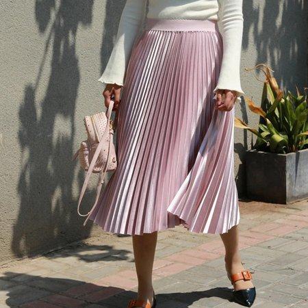 Fanco Autumn Women Long Fashion Brand A Line Pleated Skirts Female High Waist Midi Solid Color|Skirts| - AliExpress