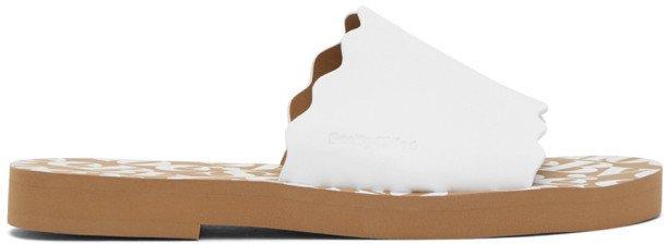 White Essie Sandals
