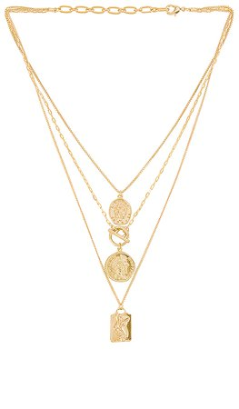 Amber Sceats Layered Coin Necklace in Gold | REVOLVE