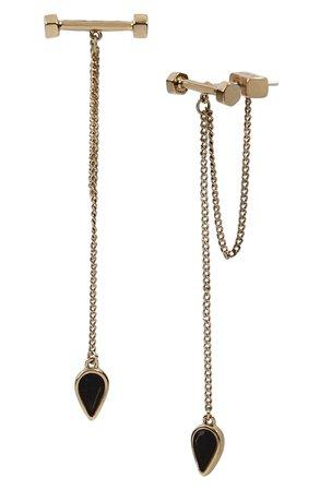 ALLSAINTS Bar & Stone Front/Back Drop Earrings   Nordstrom