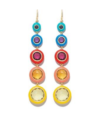 IPPOLITA 18kt Yellow Gold Lollipop® Carnevale 5-Stone Drop Earrings - Farfetch