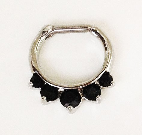 black jewel septum ring