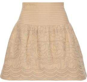 Cotton-matelasse Mini Skirt