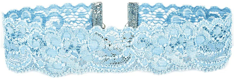Amazon.com: Twilight's Fancy Floral Elastic Stretch Lace Choker Necklace (Light Blue, Large): Home & Kitchen
