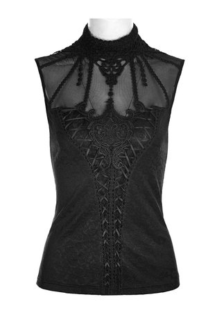 Love Lace Black Gothic Top by Punk Rave | Ladies Gothic