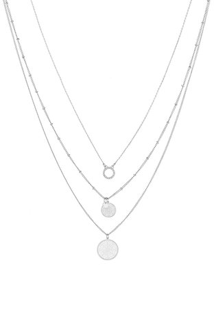 ONLY ONLFLARA 3 CHAIN NECKLACE 2 PACK - Necklace - silver-coloured - Zalando.co.uk