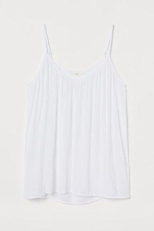 Crinkled Tank Top - White - Ladies | H&M US