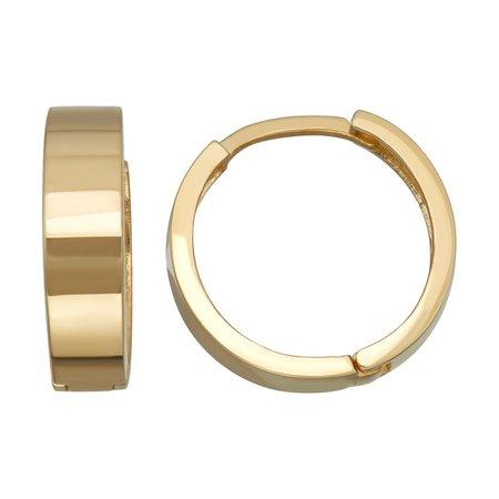 14k Gold Huggie Hoop Earrings | Kohls