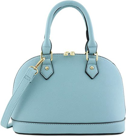 Amazon.com: Zip-Around Classic Dome Satchel (Dusty Blue): Shoes