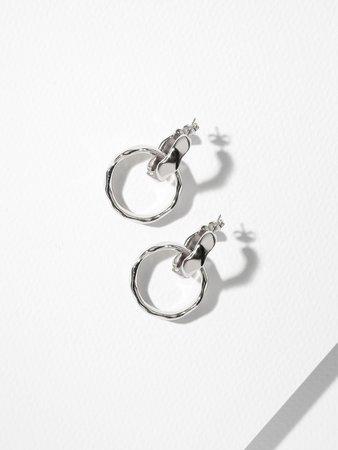 The Rolls Earrings Silver – Vanessa Mooney