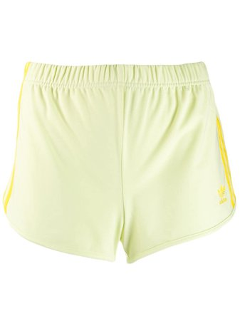 Yellow Adidas Short Track Shorts | Farfetch.com