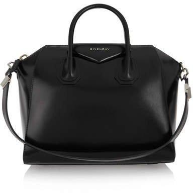 Antigona Medium Leather Tote - Black