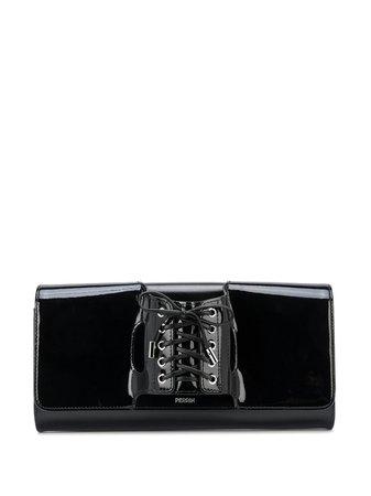 Perrin Paris Le Corset Lace-Up Clutch Bag | Farfetch.com