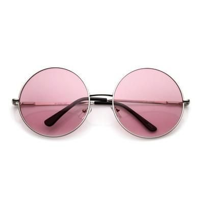 Pink Circle Glasses