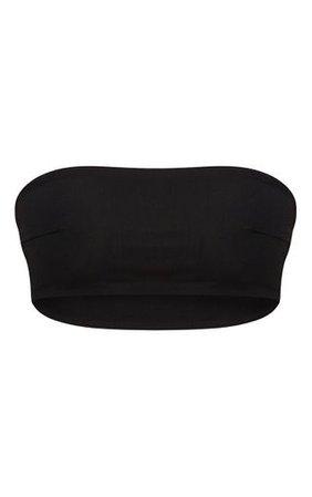Black Mix & Match Bandeau Bikini Top | PrettyLittleThing