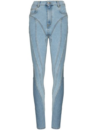 Mugler high-waisted skinny jeans with Express Delivery - Farfetch