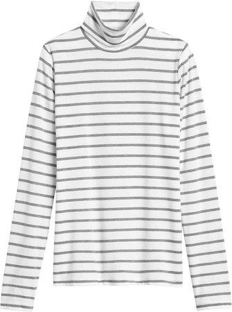 Petite Threadsoft Turtleneck T-Shirt
