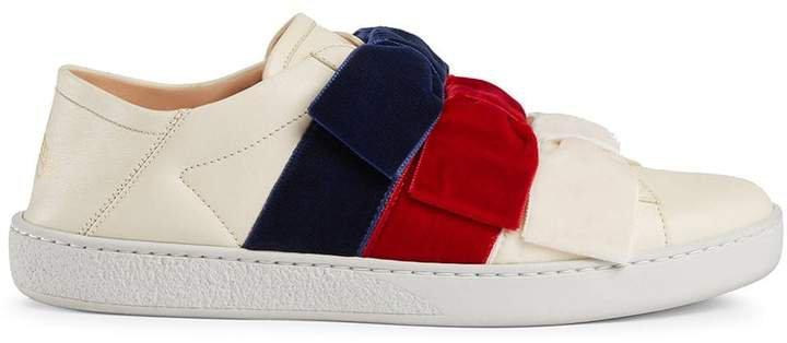 Ace sneaker with velvet bows