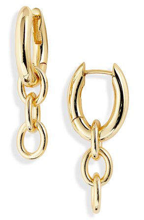 gorjana Lou Link Huggie Earrings | Nordstrom