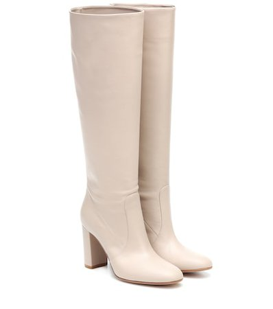 Gianvito Rossi - Slouch 85 suede knee-high boots | Mytheresa