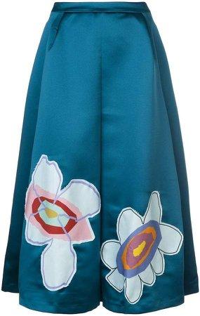 flower patch midi skirt
