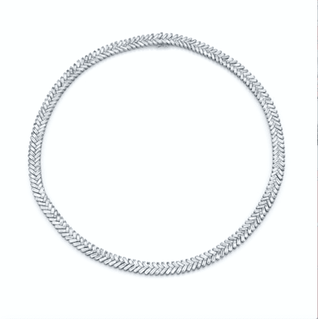 All-diamond chain link choker - Anita Ko