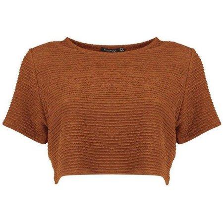 Rust Orange Crop Top